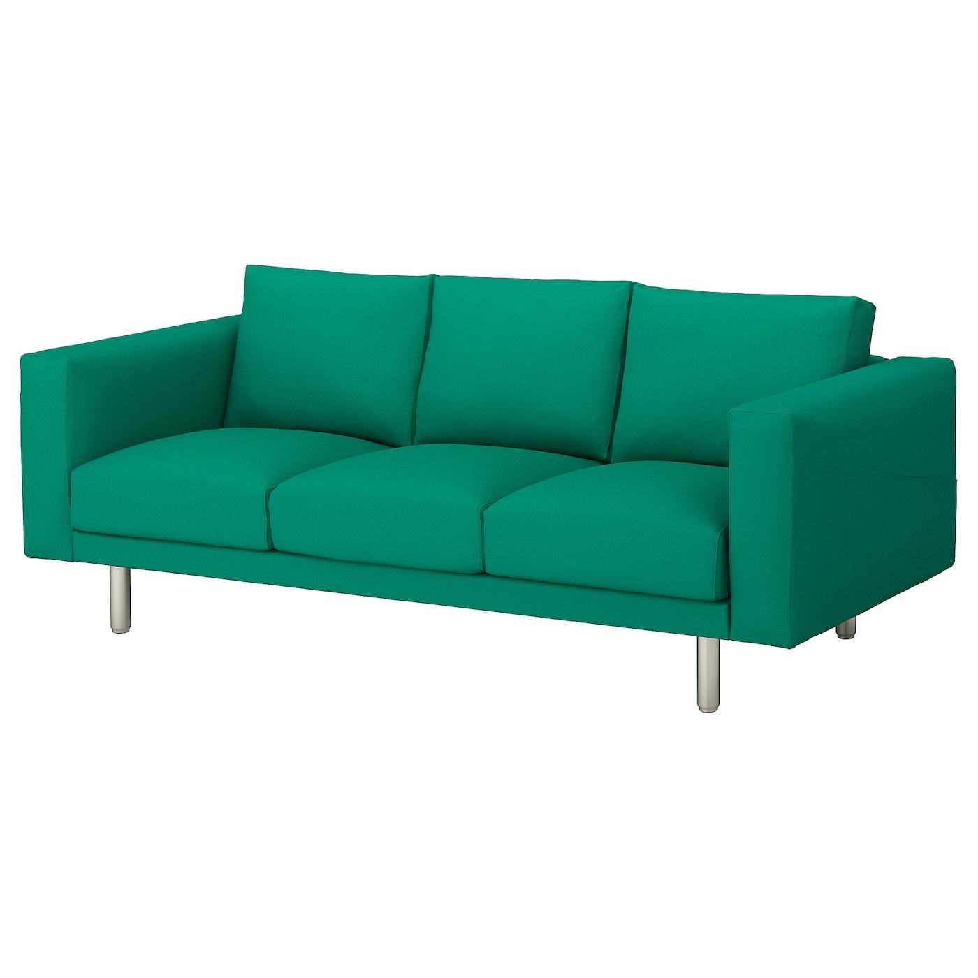 Norsborg 3 seat sofa gr sbo bright green metal ikea for Sofa 4 meter
