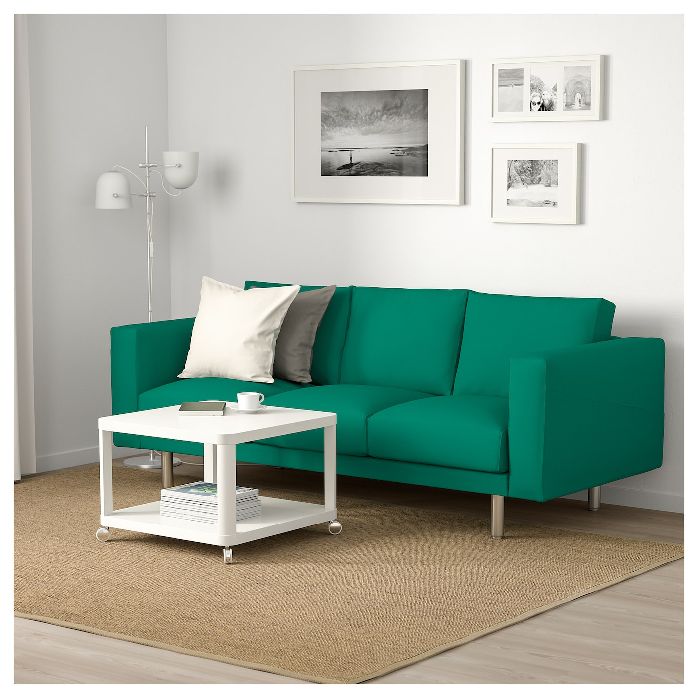 Norsborg 3 seat sofa gr sbo bright green metal ikea for Ikea couch planer