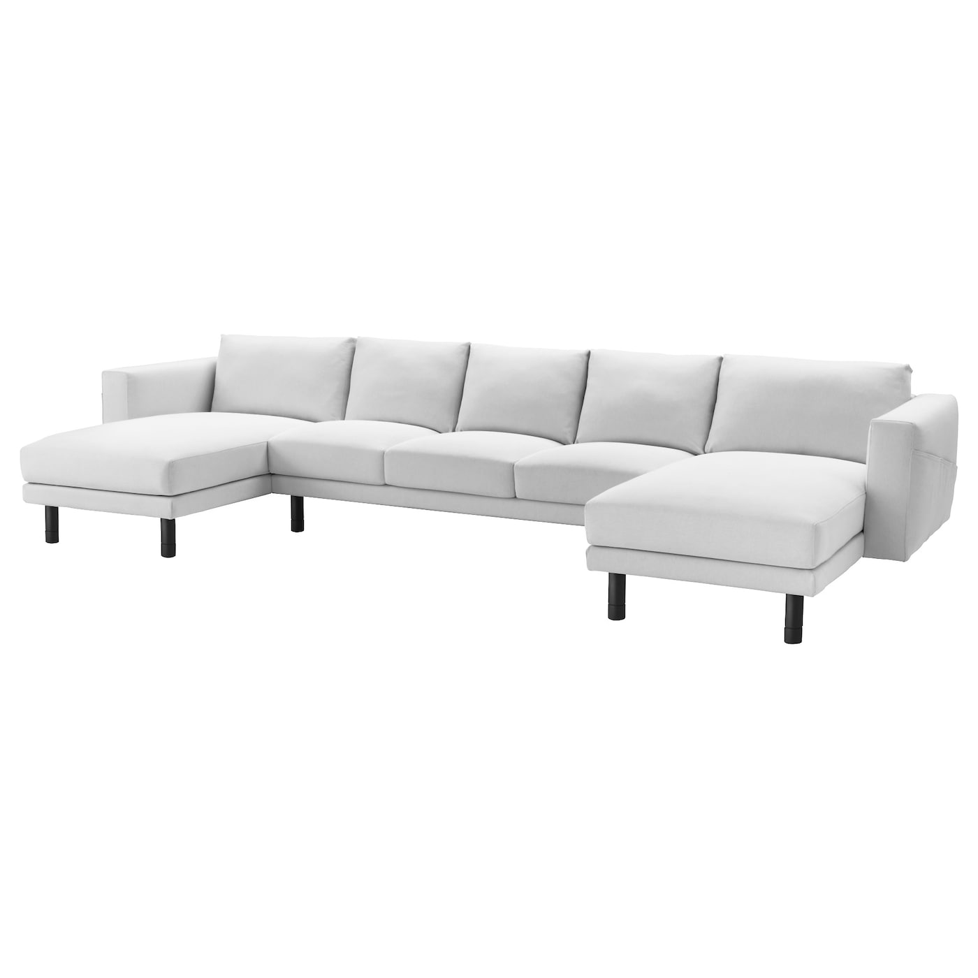 Norsborg 3 seat sofa with 2 chaise longues finnsta white for 2 seater chaise sofa