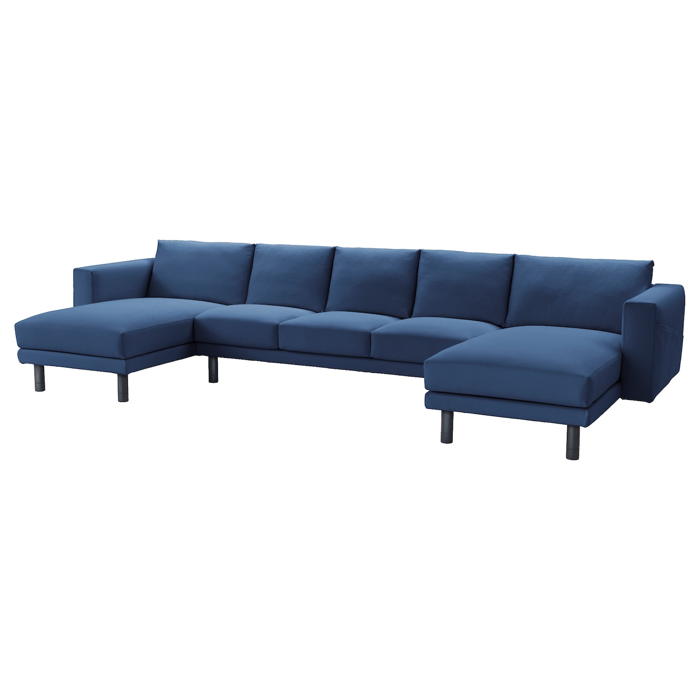 Norsborg 3 seat sofa with 2 chaise longues gr sbo dark for U sofa med chaiselong