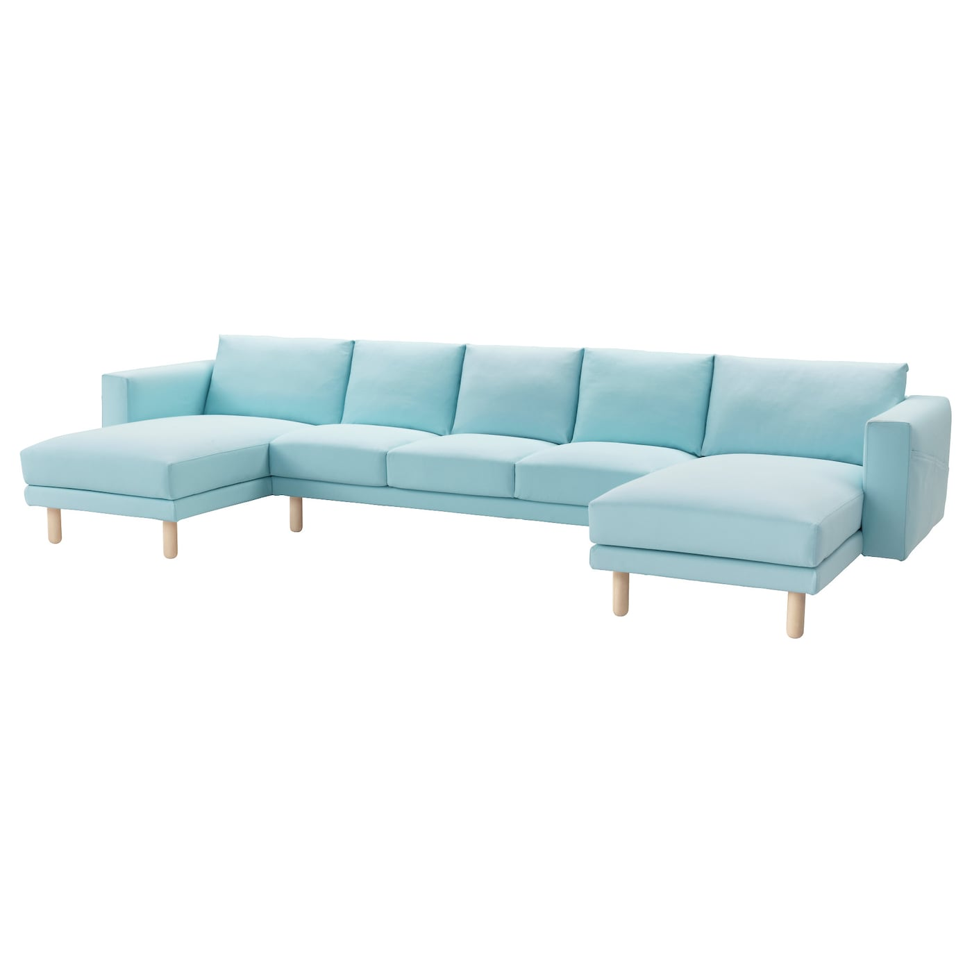 Norsborg 3 seat sofa with 2 chaise longues gr sbo light for 3 seat sofa with chaise