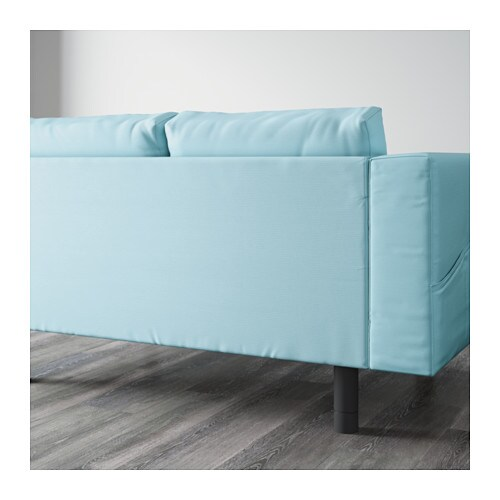 norsborg 3 seat sofa with 2 chaise longues gr sbo light blue grey ikea. Black Bedroom Furniture Sets. Home Design Ideas
