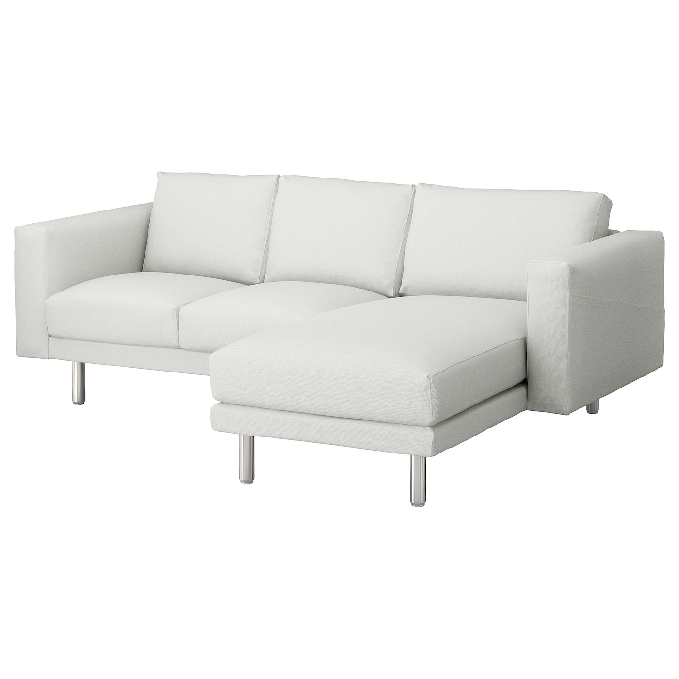 norsborg 3 seat sofa with chaise longue finnsta white metal ikea. Black Bedroom Furniture Sets. Home Design Ideas