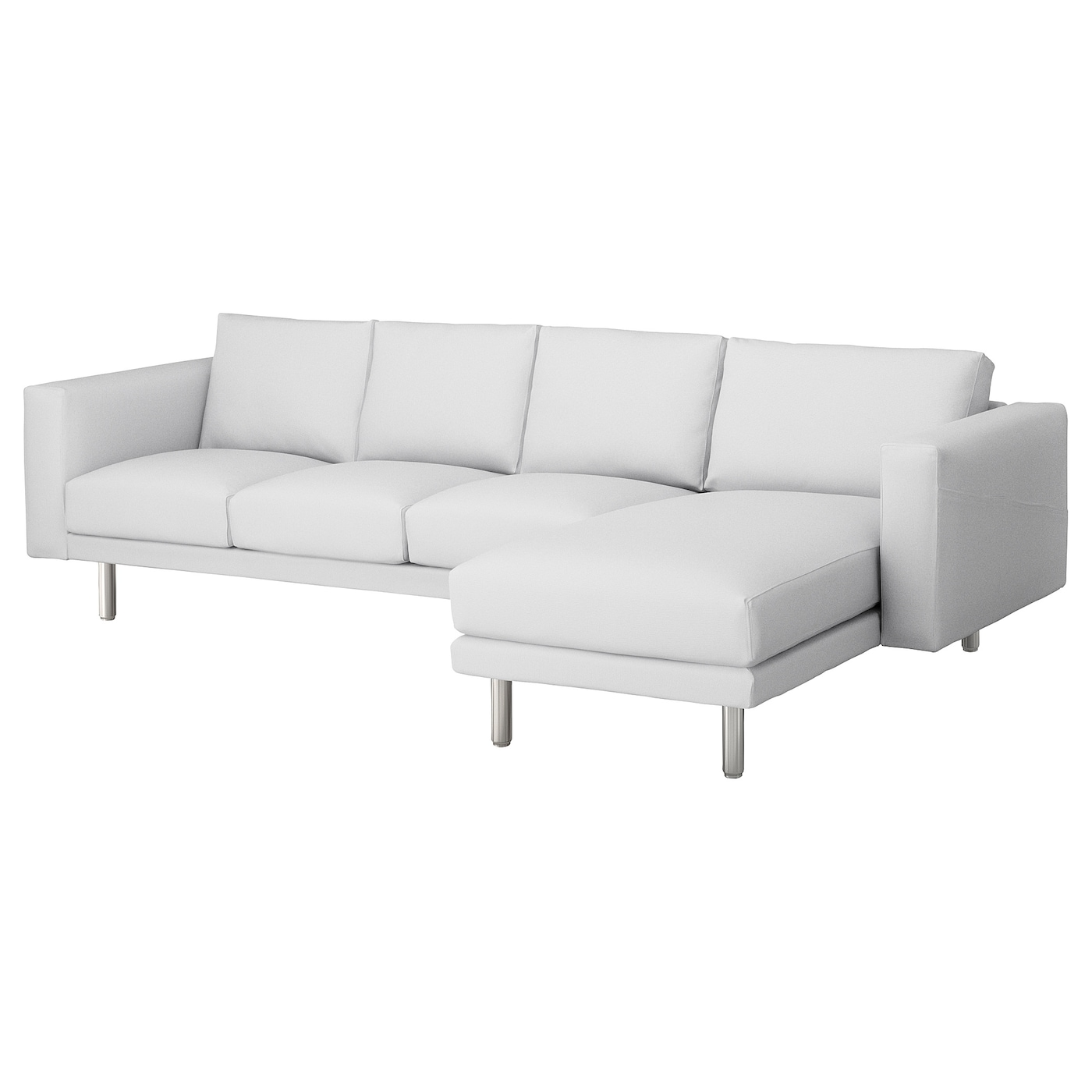 Norsborg 4 seat sofa with chaise longue finnsta white for 5 seater sofa with chaise