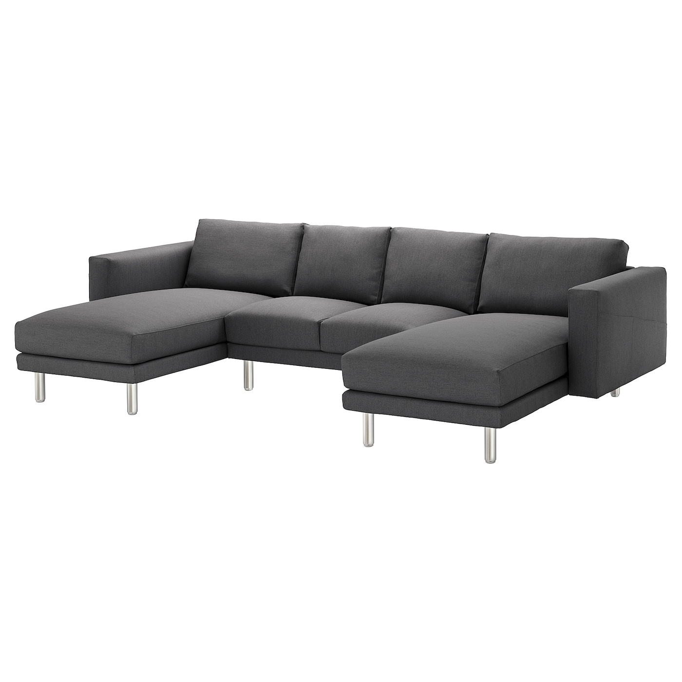 norsborg 4 seat sofa with chaise longues finnsta dark grey. Black Bedroom Furniture Sets. Home Design Ideas