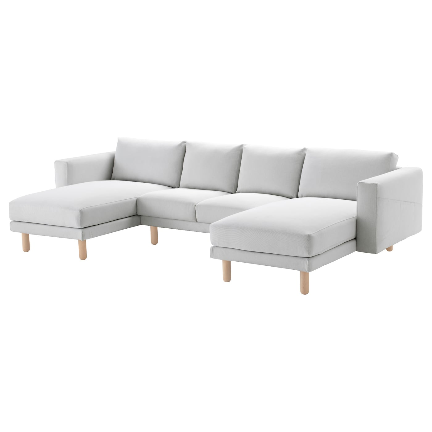 Norsborg 4 seat sofa with chaise longues finnsta white - Chaise longue jardin ikea ...