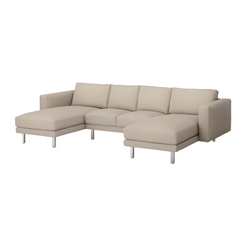 norsborg 4 seat sofa with chaise longues gr sbo beige metal ikea. Black Bedroom Furniture Sets. Home Design Ideas