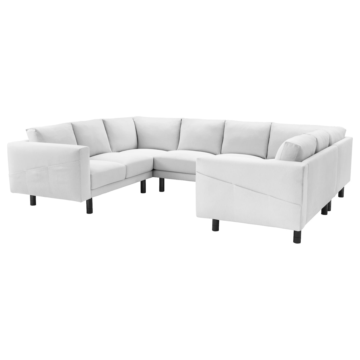 norsborg 8 seat sofa u shaped finnsta white grey ikea. Black Bedroom Furniture Sets. Home Design Ideas