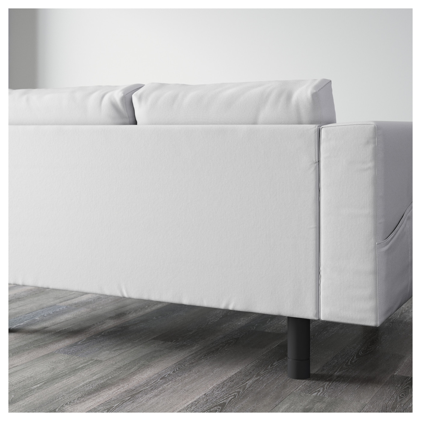 NORSBORG 9 seat sofa U shaped Finnsta white grey IKEA