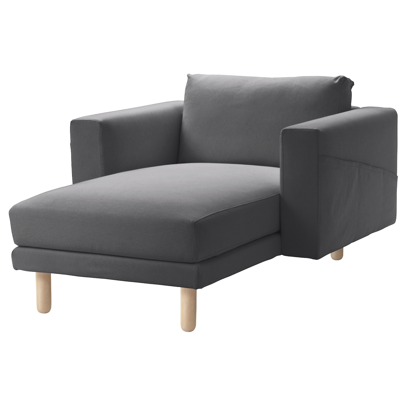 Norsborg chaise longue finnsta dark grey birch ikea for Oferta sofa cama chaise longue