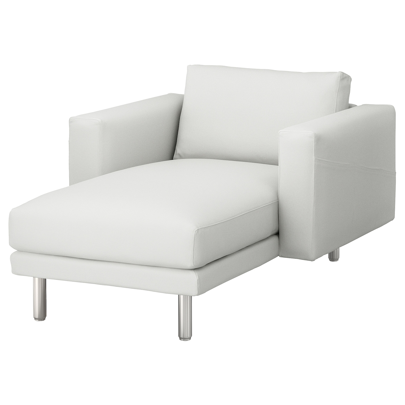 Norsborg chaise longue finnsta white metal ikea for Chaise longue ikea