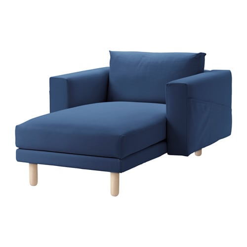 Norsborg chaise longue gr sbo dark blue birch ikea - Chaise longue bois ikea ...