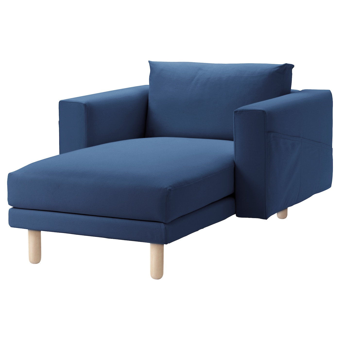 Norsborg chaise longue gr sbo dark blue birch ikea for Blue chaise longue