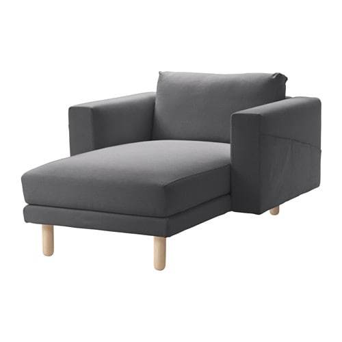 Norsborg chaise longue finnsta dark grey birch ikea for Arild chaise longue
