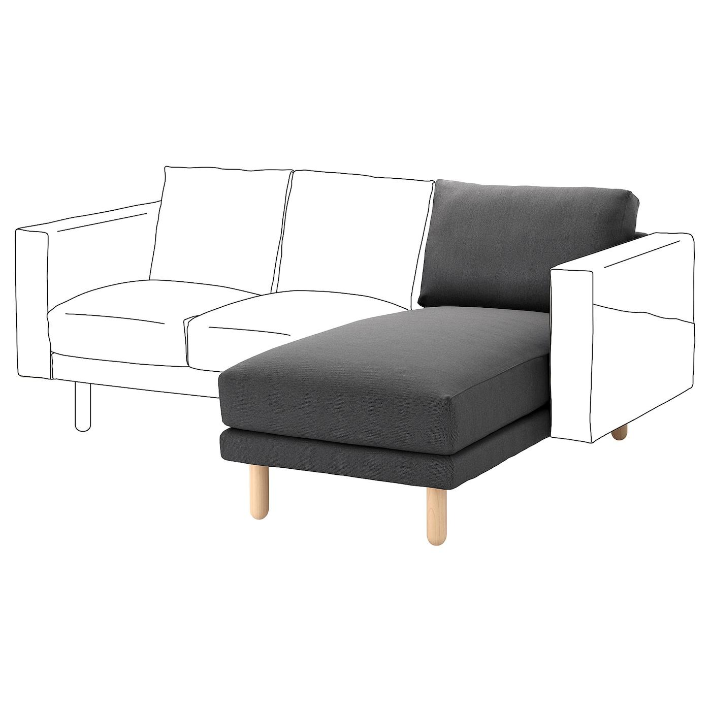 Norsborg chaise longue section finnsta dark grey birch ikea for Chaise longue rattan ikea