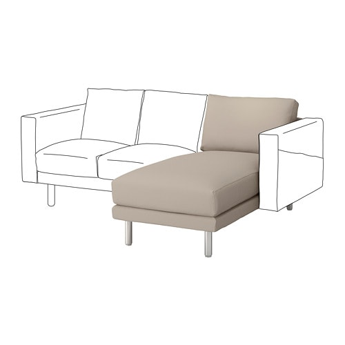 norsborg chaise longue section gr sbo beige metal ikea. Black Bedroom Furniture Sets. Home Design Ideas