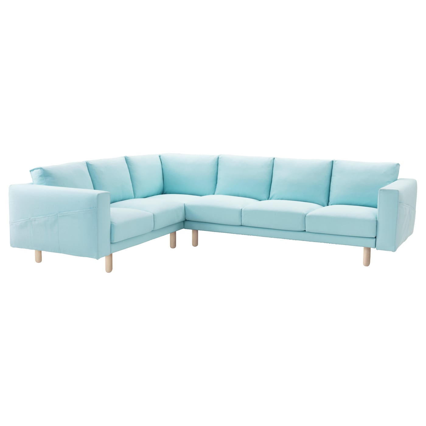 NORSBORG Corner sofa 2 3 3 2 cover Gräsbo light blue IKEA