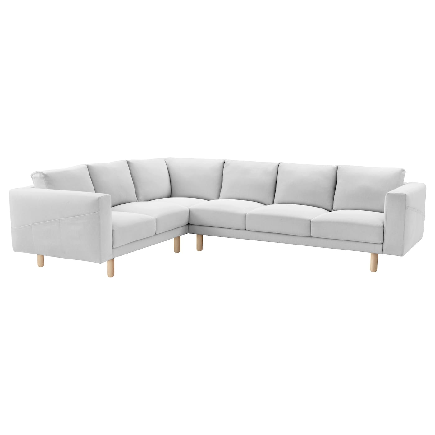 Norsborg corner sofa 2 3 3 2 finnsta white birch ikea for Ikea corner sofa