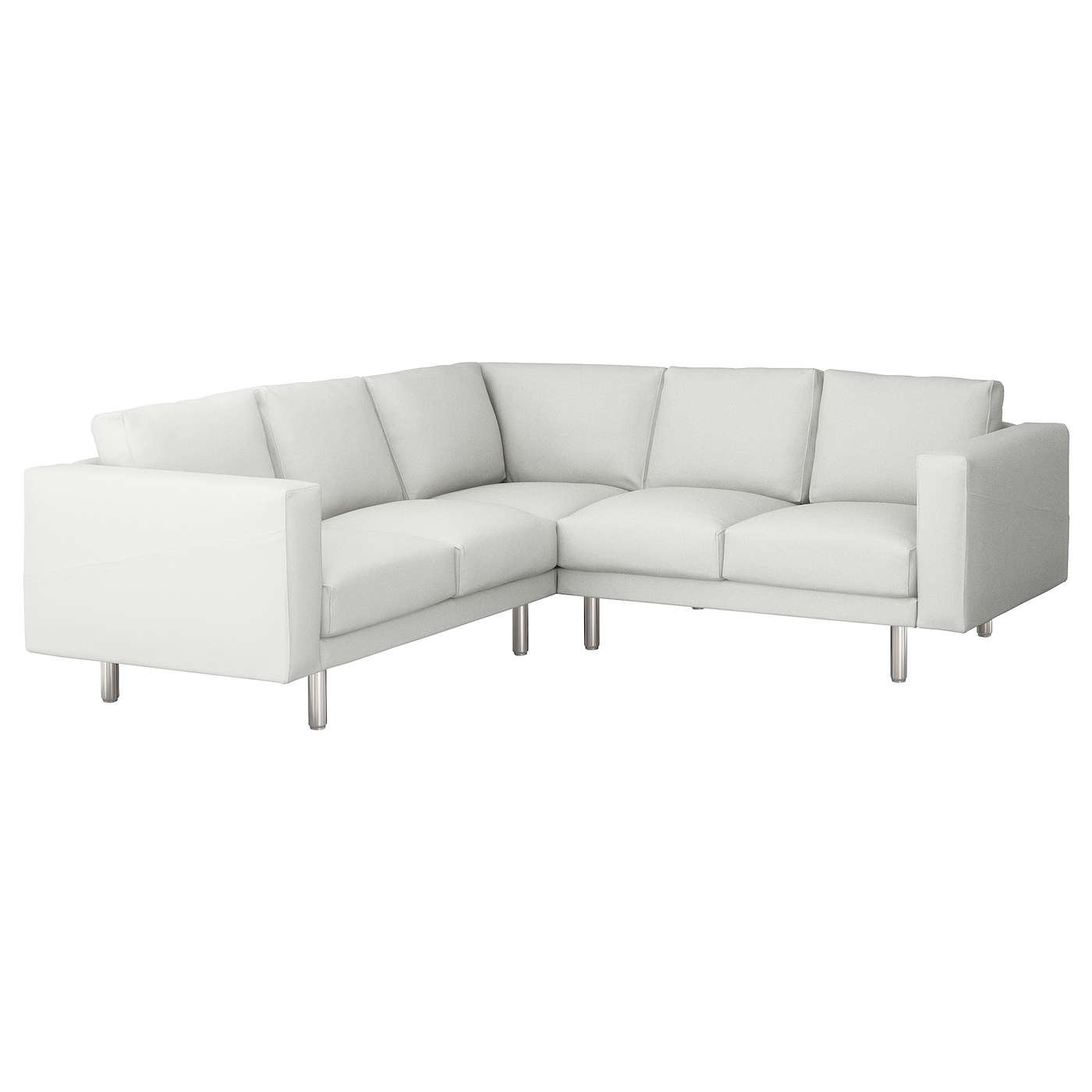 norsborg corner sofa 4 seat finnsta white metal ikea. Black Bedroom Furniture Sets. Home Design Ideas