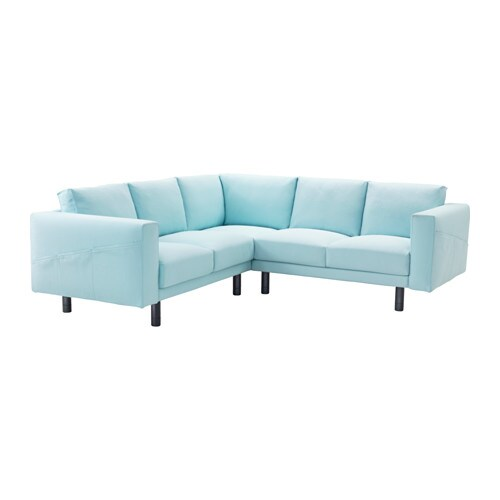 Norsborg corner sofa 2 2 gr sbo light blue grey ikea for Blue grey couch