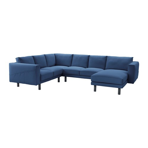 Norsborg corner sofa 2 2 with chaise longue gr sbo dark for Chaise longue en rotin ancienne