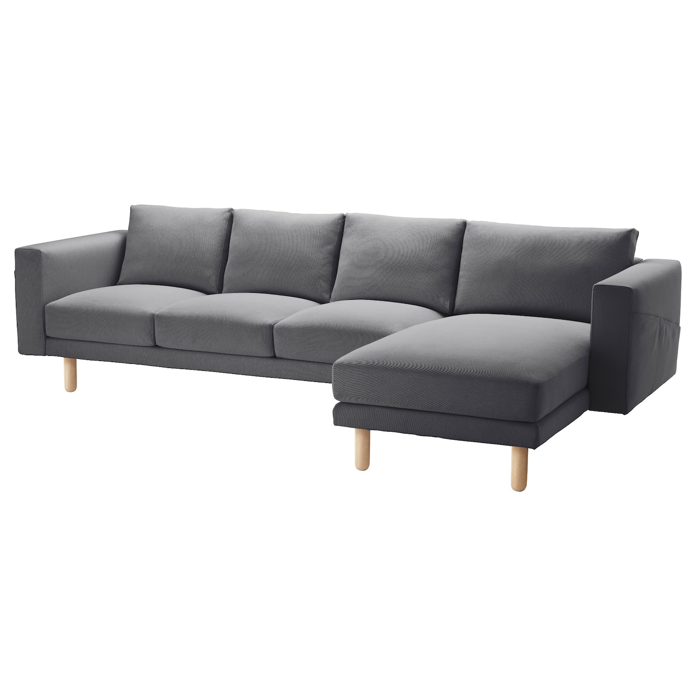 Norsborg cover 3 seat sofa w chaise longue finnsta dark for Chaise longue cover
