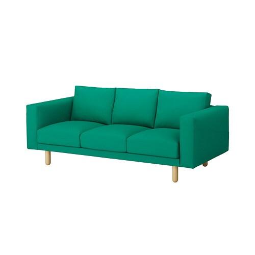 NORSBORG Cover For 3 seat Sofa Grsbo Bright Green IKEA