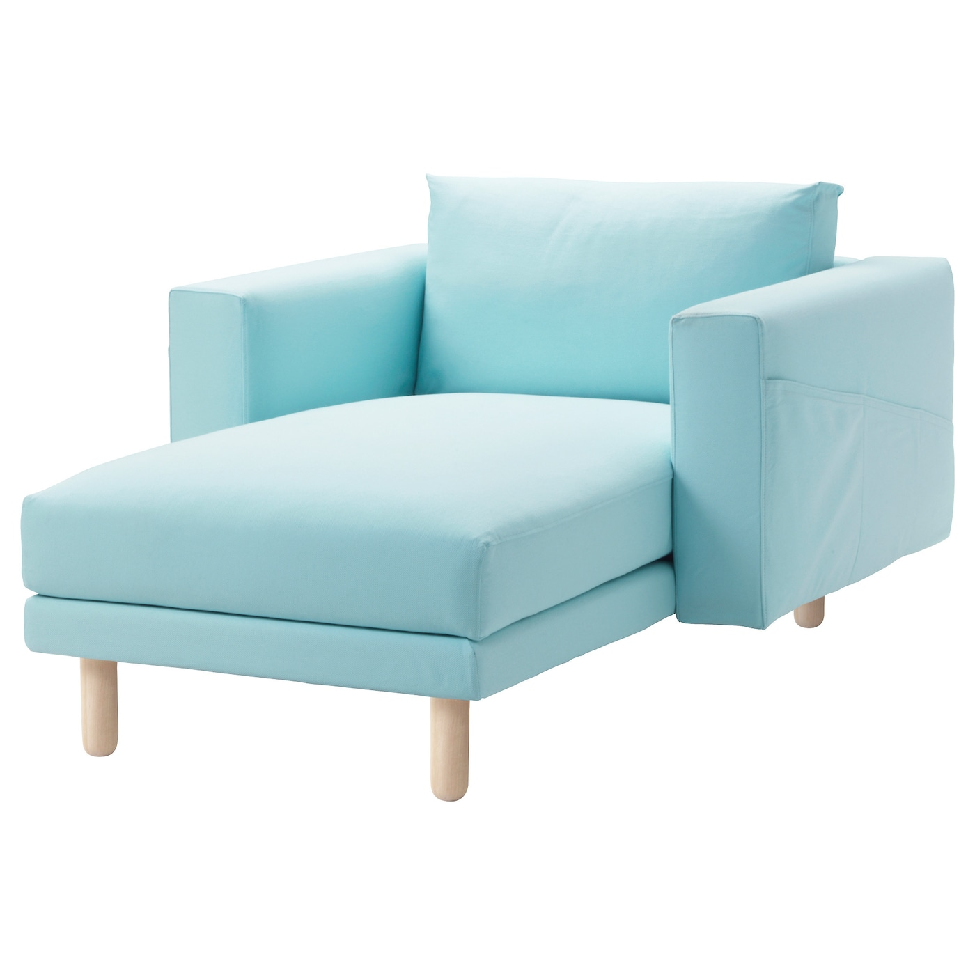 Norsborg cover for chaise longue gr sbo light blue ikea - Chaise en plastique ikea ...