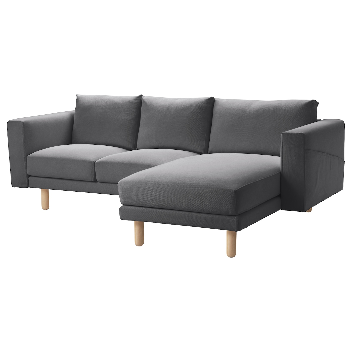 Norsborg cover two seat sofa w chaise longue finnsta dark for Chaise longue cover