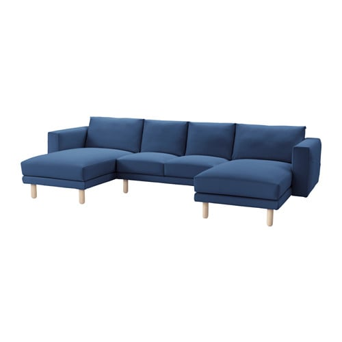 norsborg 2 seat sofa with 2 chaise longues gr sbo dark blue birch ikea. Black Bedroom Furniture Sets. Home Design Ideas