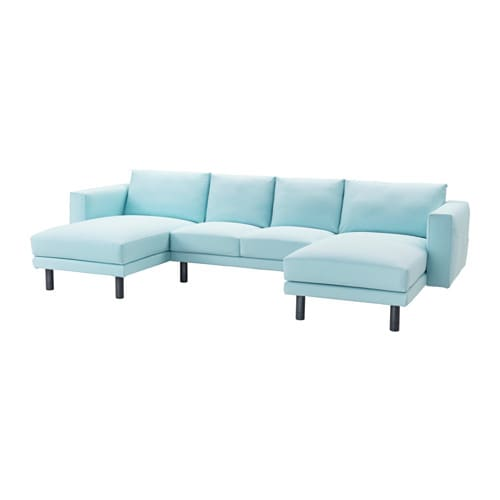 Norsborg 2 seat sofa with 2 chaise longues gr sbo light - Chaise longue bois ikea ...