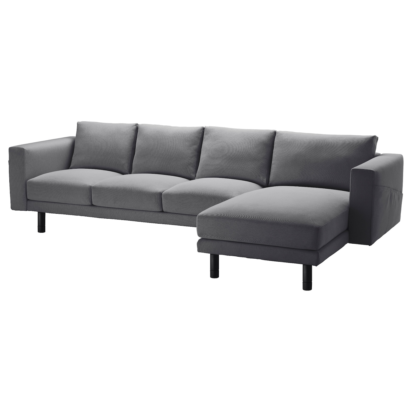 norsborg three seat sofa and chaise longue finnsta dark grey grey ikea. Black Bedroom Furniture Sets. Home Design Ideas