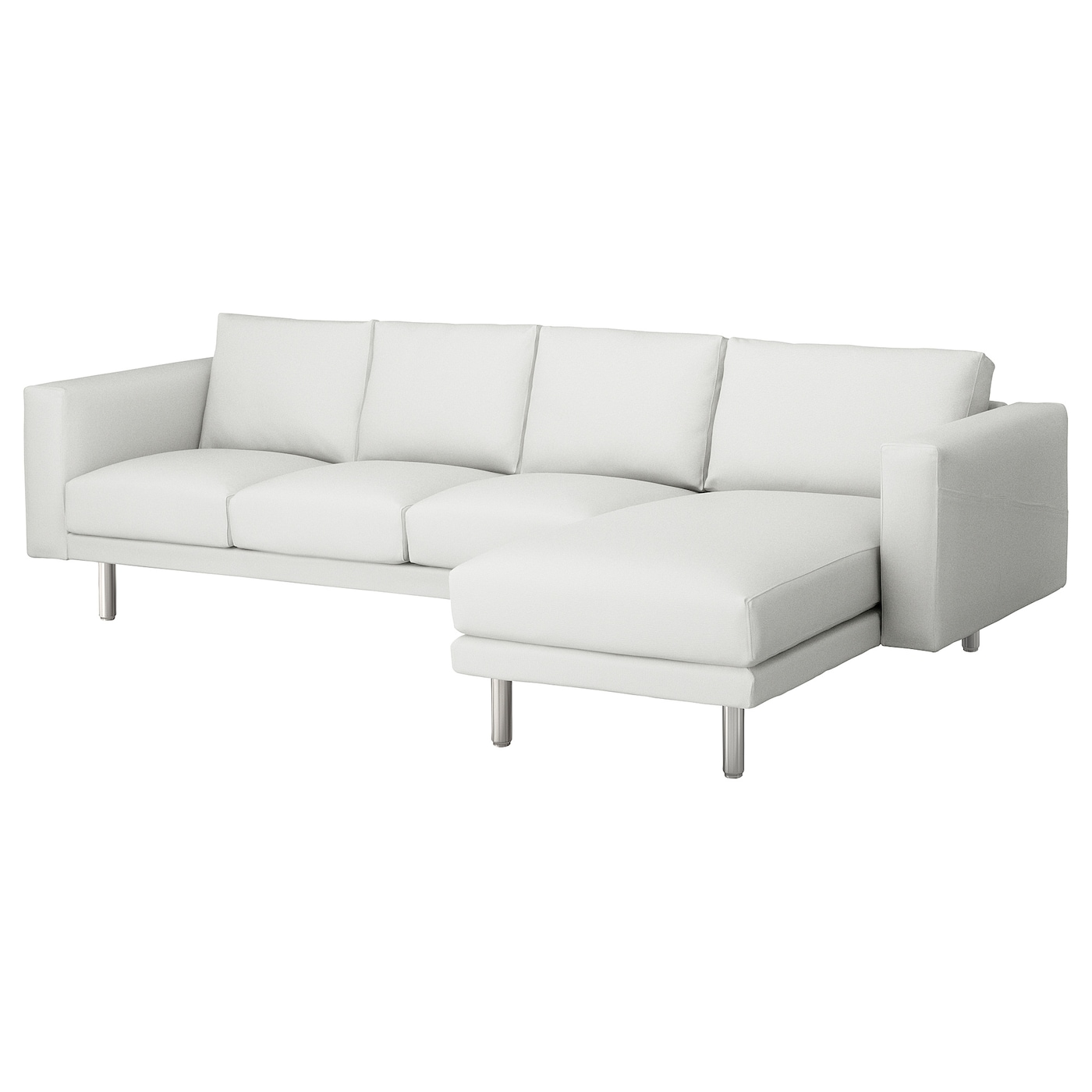 Norsborg three seat sofa and chaise longue finnsta white for Chaise longue sofa
