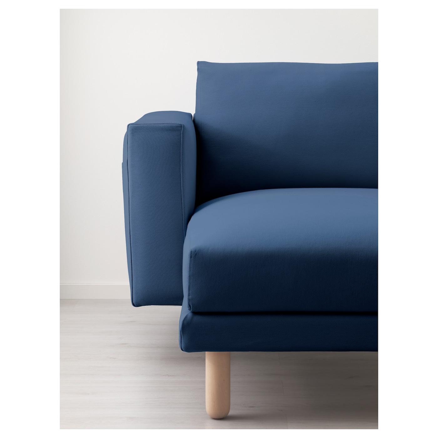 norsborg three seat sofa and chaise longue gr sbo dark blue birch ikea. Black Bedroom Furniture Sets. Home Design Ideas
