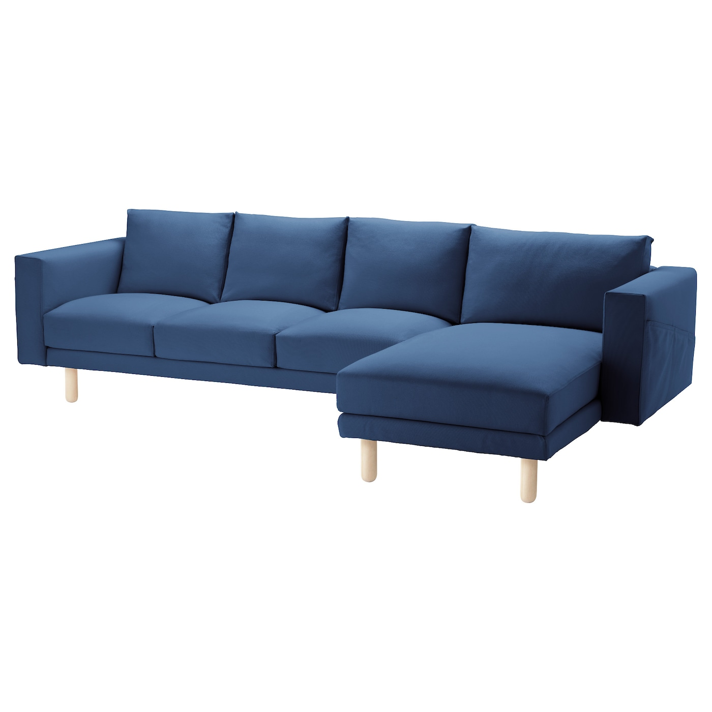 Norsborg three seat sofa and chaise longue gr sbo dark for Chaise longue ikea