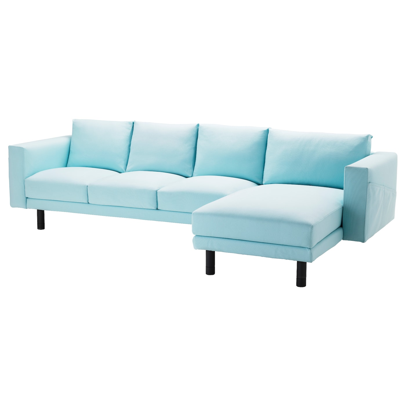Norsborg three seat sofa and chaise longue gr sbo light for Chaise longue sofa