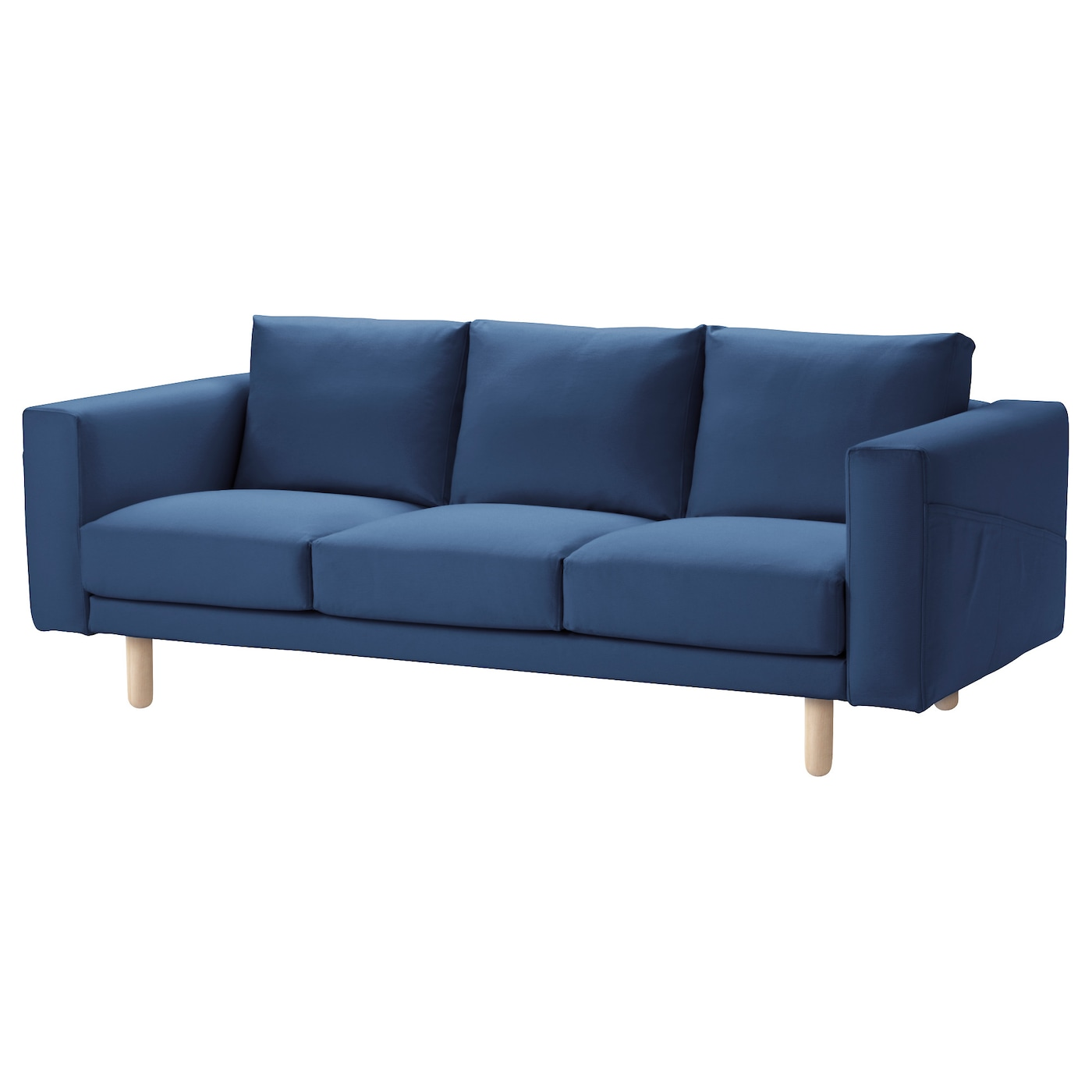 Norsborg Three Seat Sofa Gr Sbo Dark Blue Birch Ikea