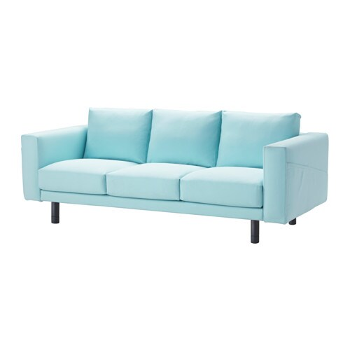 NORSBORG Three Seat Sofa Gr Sbo Light Blue Grey IKEA