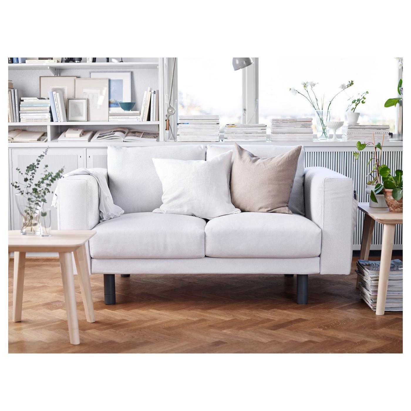 norsborg two seat sofa finnsta white grey ikea. Black Bedroom Furniture Sets. Home Design Ideas
