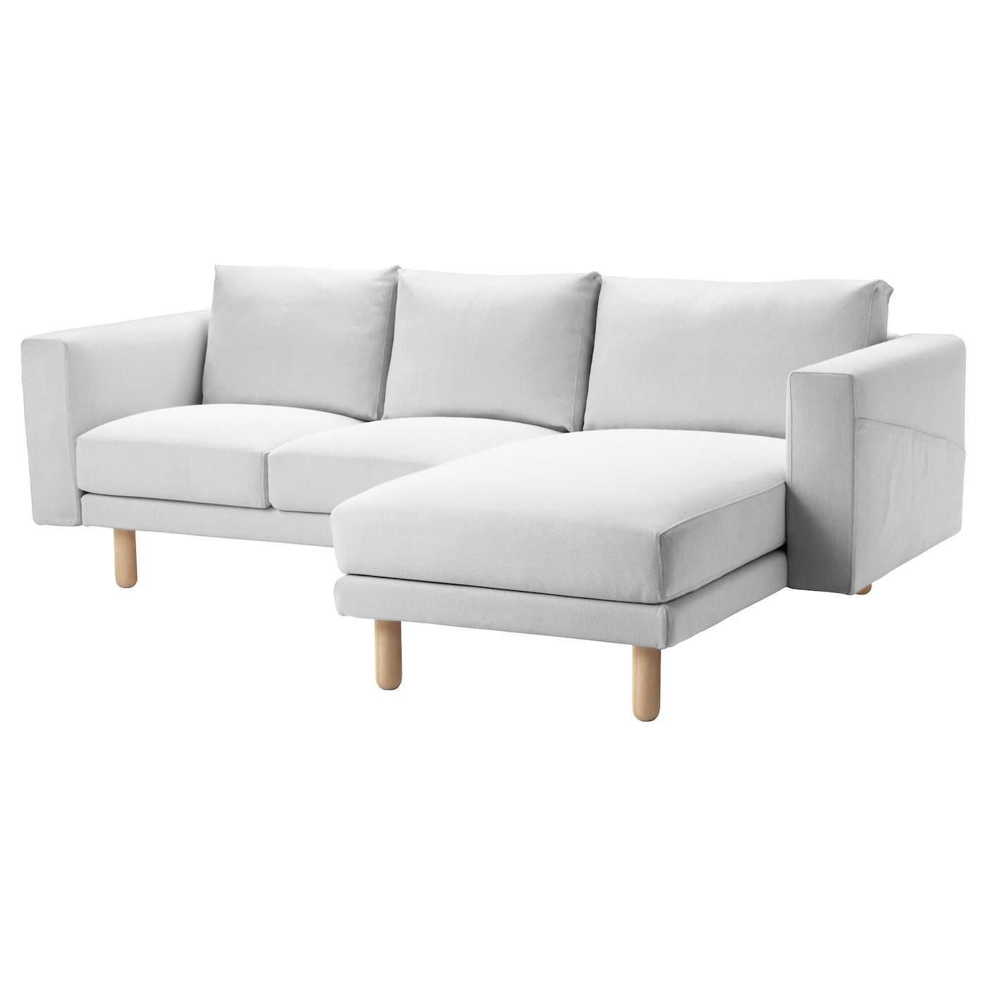 Norsborg two seat sofa with chaise longue finnsta white for 2 seater lounge with chaise