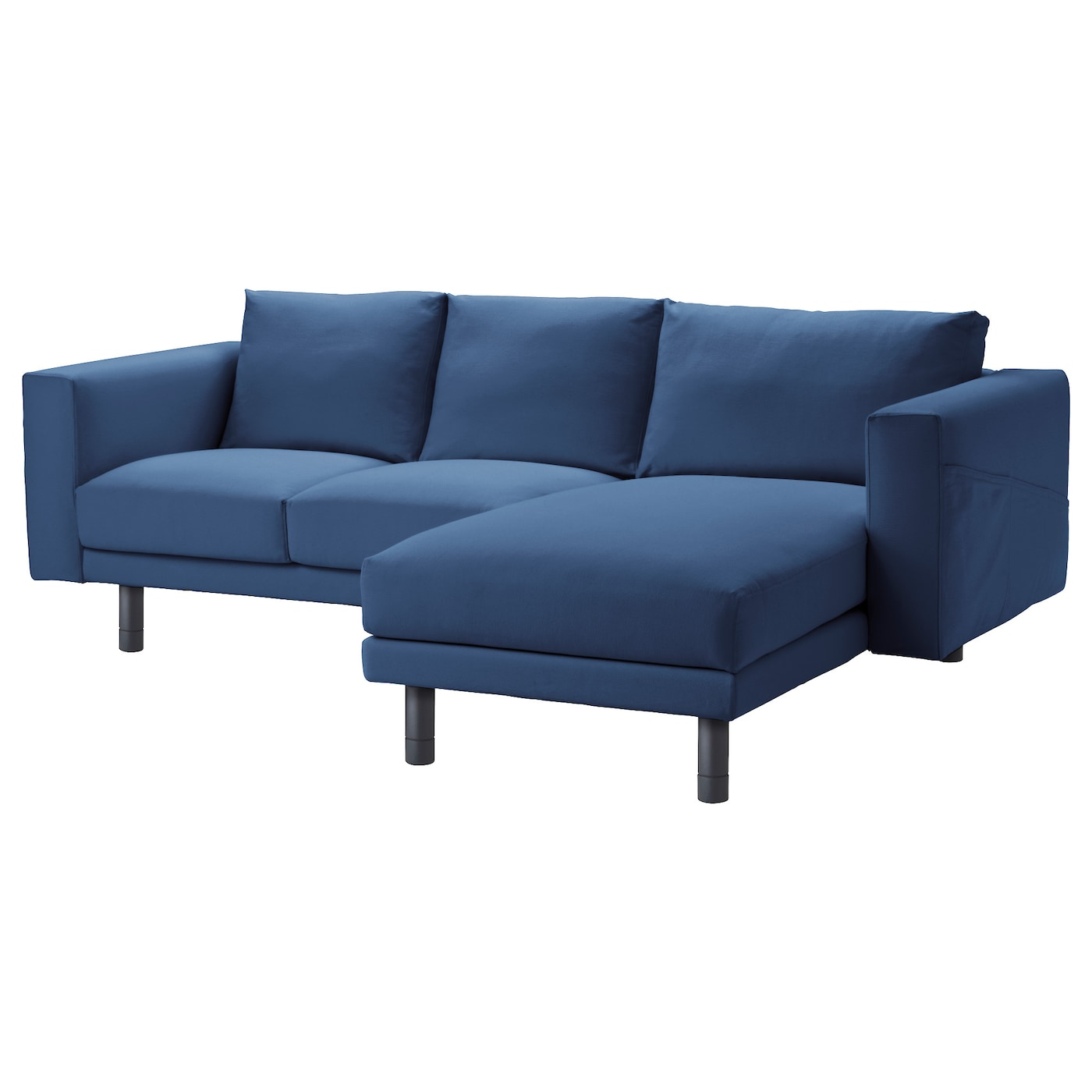 norsborg two seat sofa with chaise longue gr sbo dark blue grey ikea. Black Bedroom Furniture Sets. Home Design Ideas