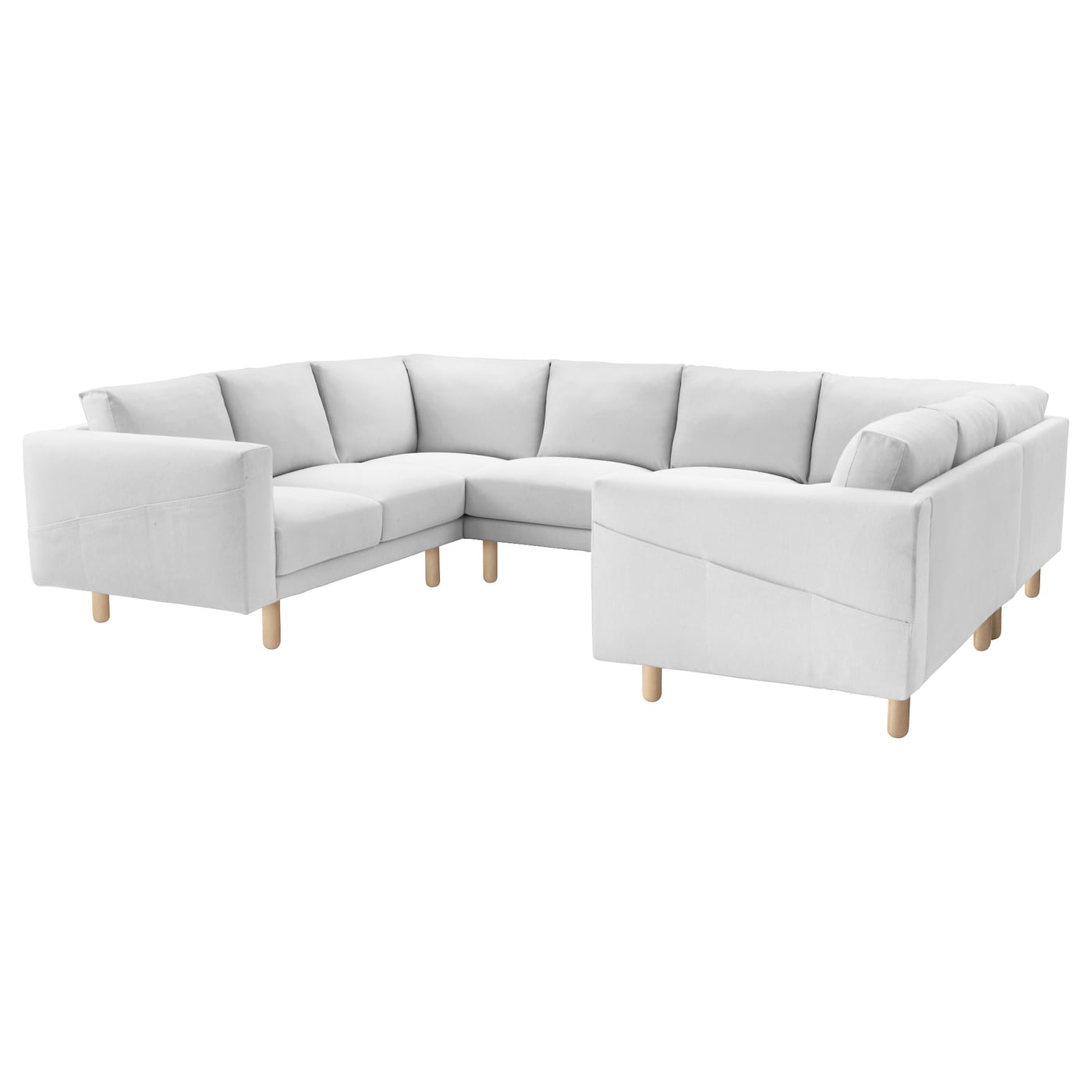 norsborg u shaped sofa 6 seat finnsta white birch ikea. Black Bedroom Furniture Sets. Home Design Ideas