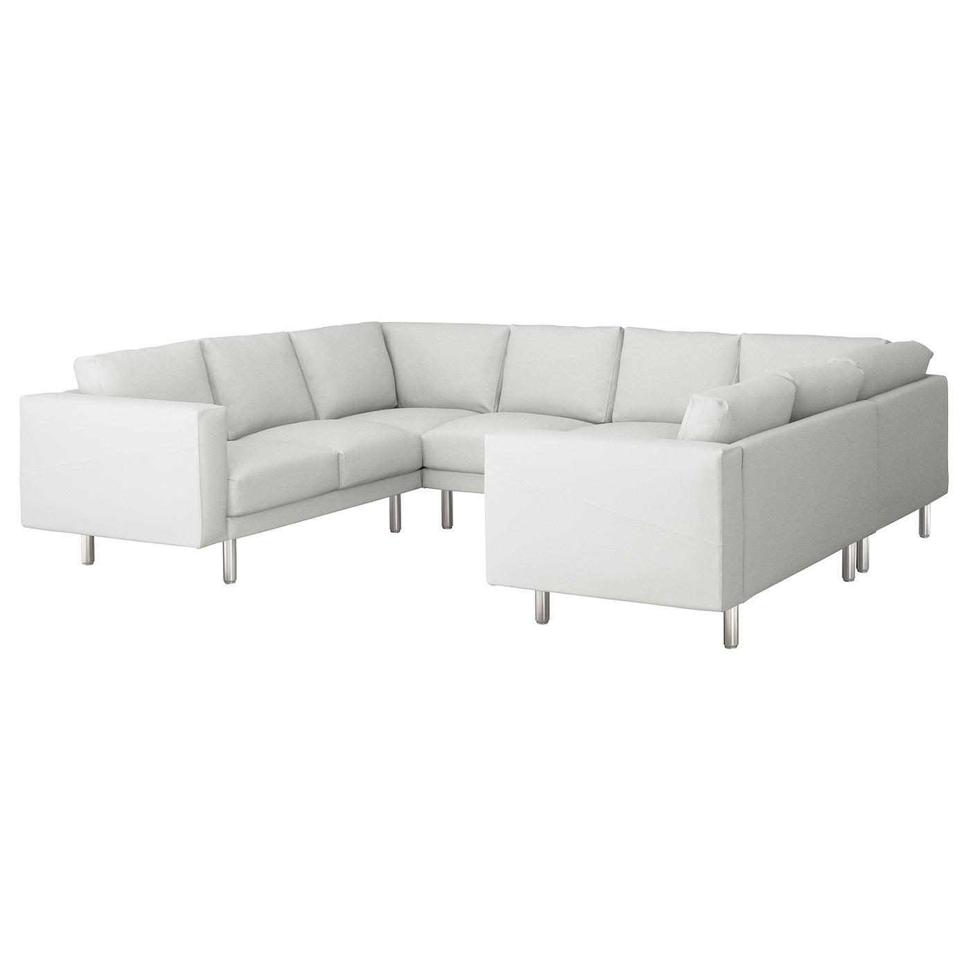Norsborg u shaped sofa 6 seat finnsta white metal ikea for U shaped sectional sofa ikea