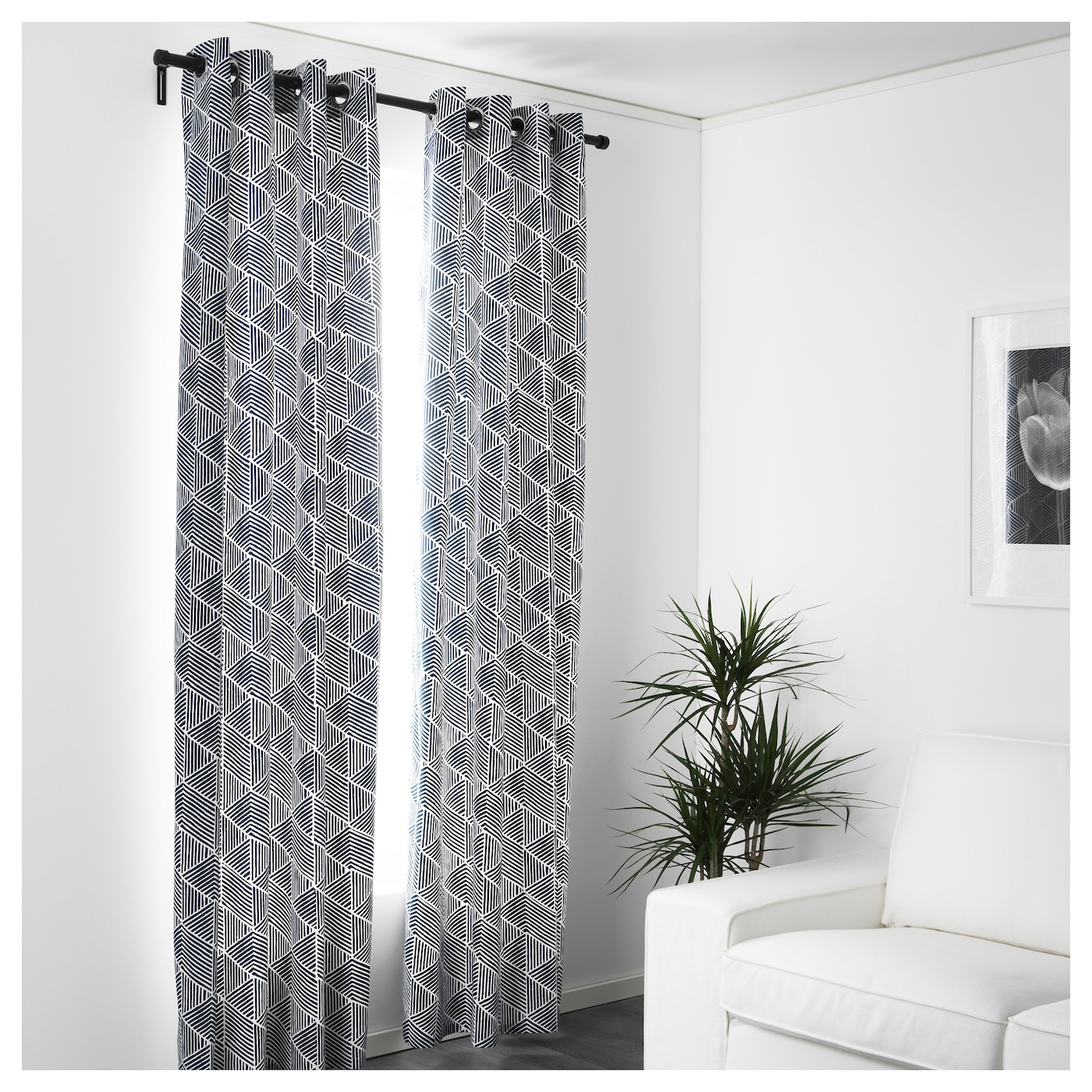IKEA NUNNERÖRT curtains, 1 pair