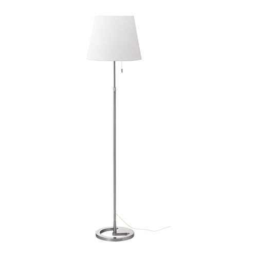 Nyfors floor lamp nickel plated white ikea for Lampada piantana ikea