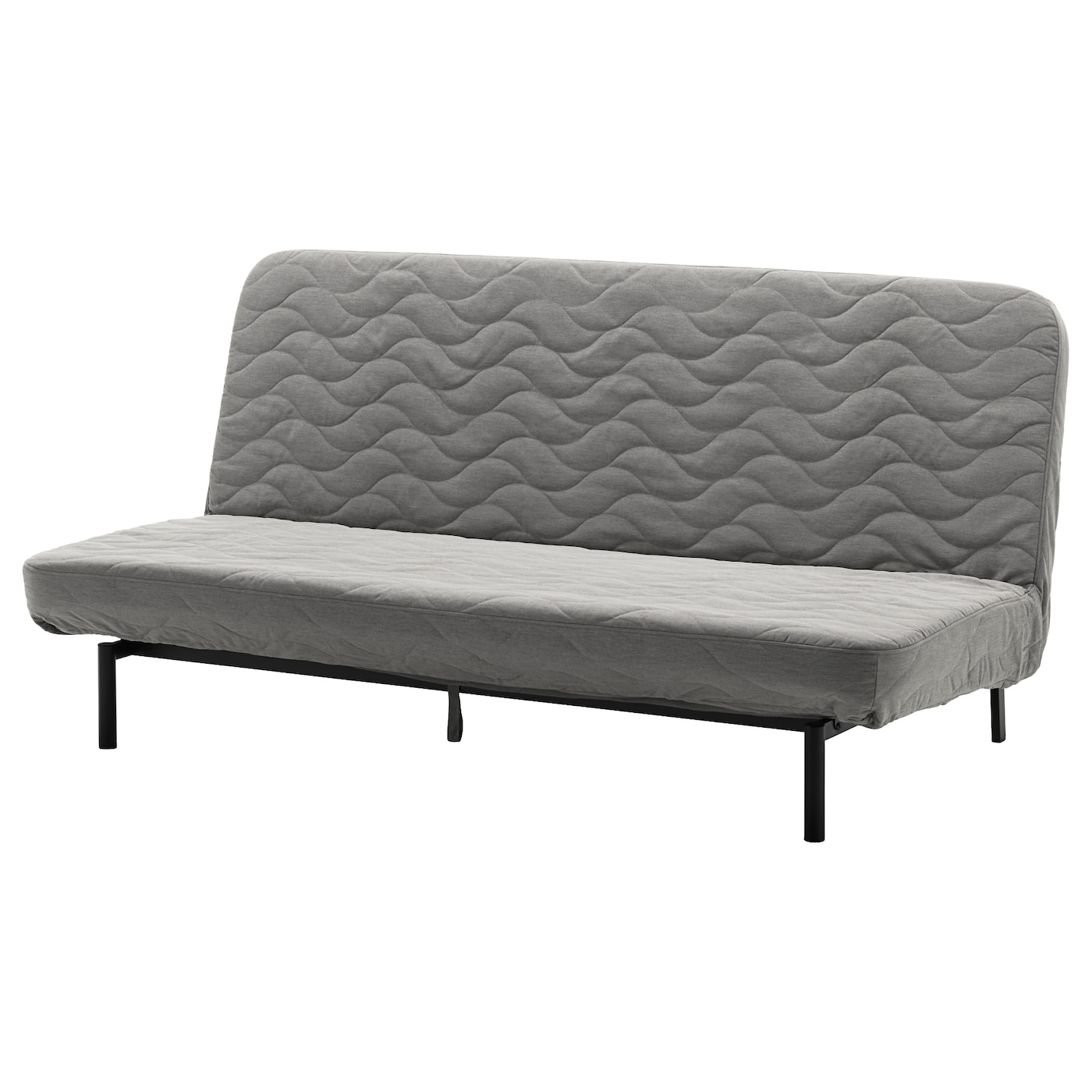 nyhamn 3 seat sofa bed with pocket spring mattress knisa grey beige ikea. Black Bedroom Furniture Sets. Home Design Ideas