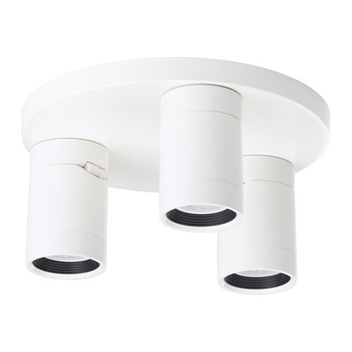 IKEA NYMÅNE ceiling spotlight with 3 spots