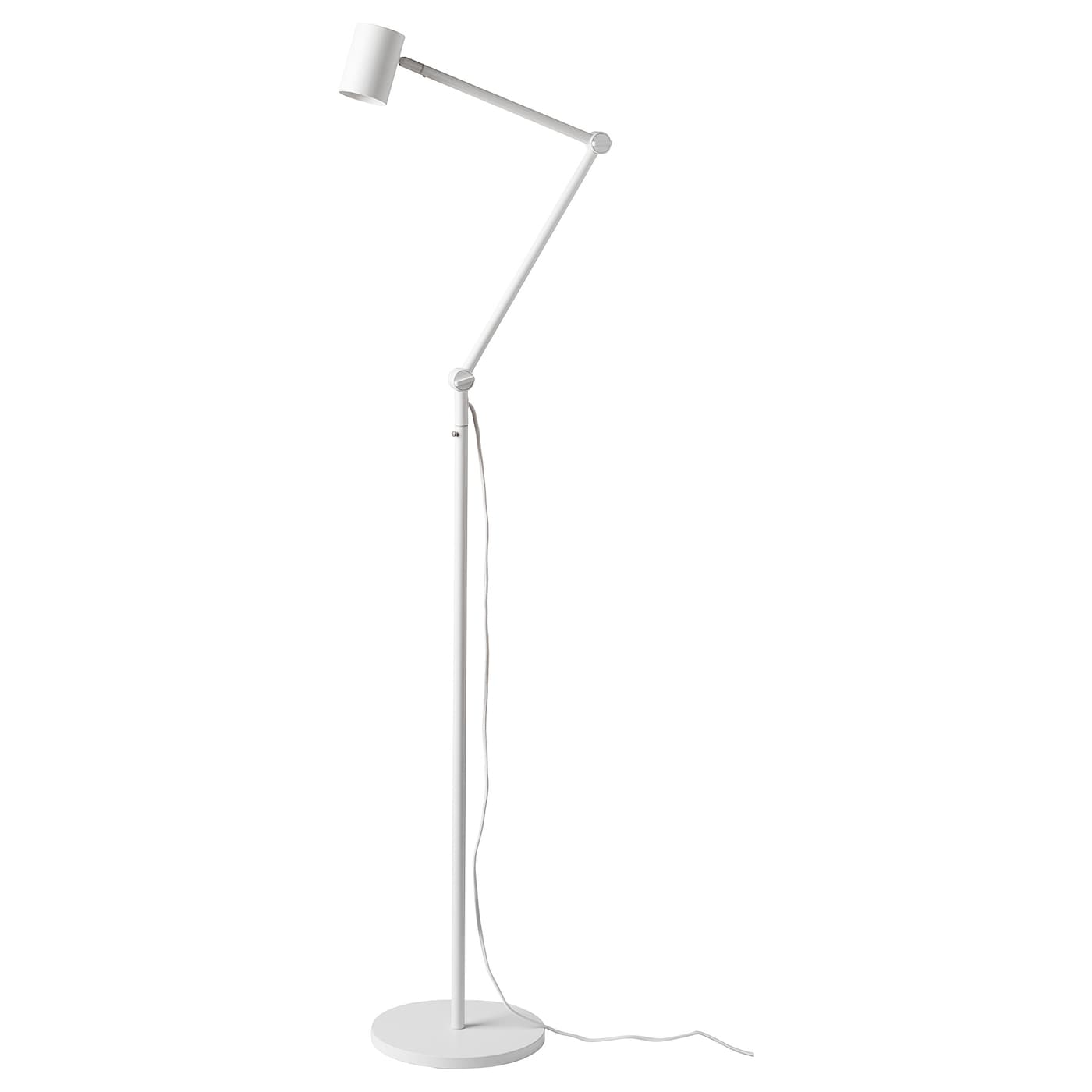 IKEA NYMÅNE floor/reading lamp Provides a directed light that is great for reading.