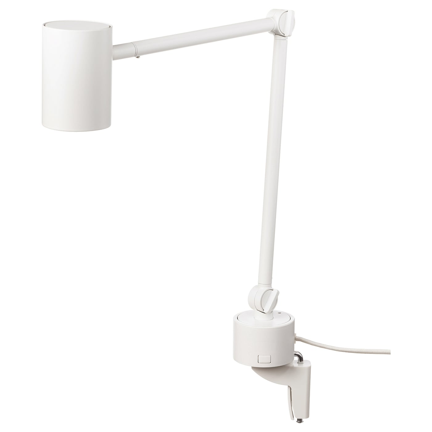 IKEA NYMÅNE work/wall lamp Provides a directed light that is great for reading.