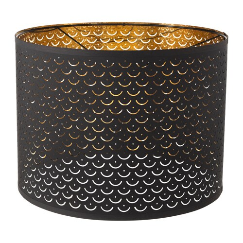nym lamp shade black brass colour 44 cm ikea. Black Bedroom Furniture Sets. Home Design Ideas